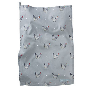 Chicken Tea Towel - easter kitchen