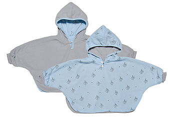 Reversible Hooded Baby Cape