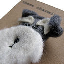 Salt And Pepper Schnauzer Dog Felt Brooch