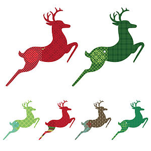 Patterned Reindeer Wall Sticker Set - living room