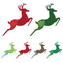 Thumb patterned reindeer wall sticker set