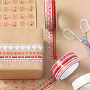 Festive Tape And Wrap Set