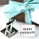 Personalised Superhero Cufflinks
