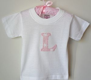 Personalised Girl's Hand Appliquéd T Shirt - t-shirts & tops