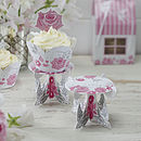 Rose And Swallow Individual Cupcake Stands