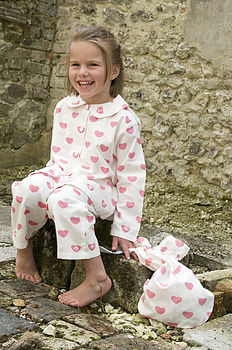Brushed Cotton Heart Pyjamas