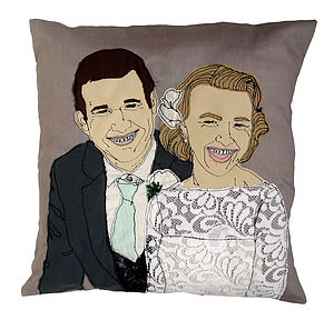 Personalised Embroidered Portrait Cushion - cushions