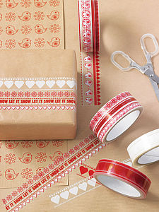 Clear Festive Christmas Tape - cards & wrap