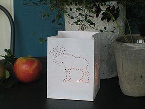 Moose Paper Lantern - outdoor lights
