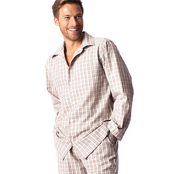 Men's Biscuit And Cream Check Pyjamas