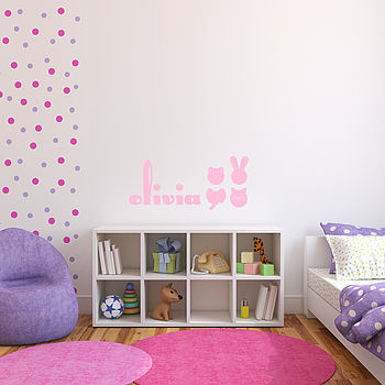 Personalised Alphabet Letter Wall Stickers