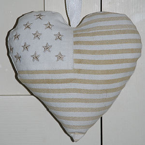 Hanging Stars And Stripes Hearts