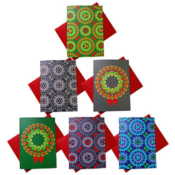 Brussels Sprouts Pattern Xmas Cards