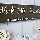 Wedding Gift 'Mr & Mrs' Personalised Plaque