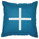 Blue felt cushion