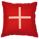 Red felt cushion