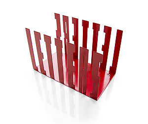 Typographic Letter Rack Holder