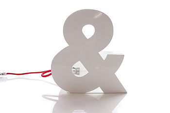 Ampersand Typographic Table Lamp