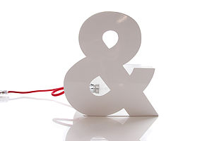 Ampersand Typographic Table Lamp - table & floor lamps