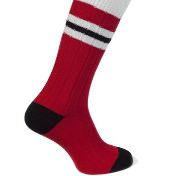 Cashmere Socks In Football Team Colours