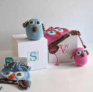 Baby Crochet Hat And Soft Toy Gift