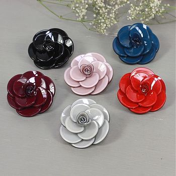 Large Rose Flower Brooch