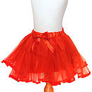 Christmas Red Tutu And Satin Hair Bow