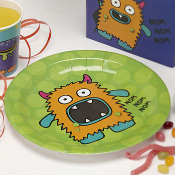 Monster Kids Birthday Party Plates