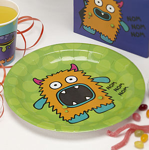 Monster Kids Birthday Party Plates - table decorations