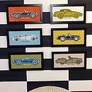 British Classic Car Hand Screen Prints