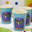 Monster Kids Birthday Party Paper Cups