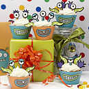Monster Kids Birthday Party Cupcake Kit