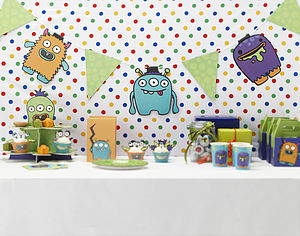 Monster Kids Birthday Party Bunting - room decorations