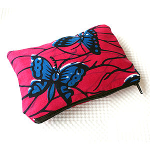 Bright Print Zip Pouch - bags & purses