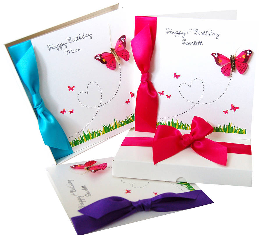 Flutterby Fancies Butterfly Birthday Card