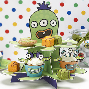 Monster Kids Birthday Party Cupcake Stand - baby & child sale