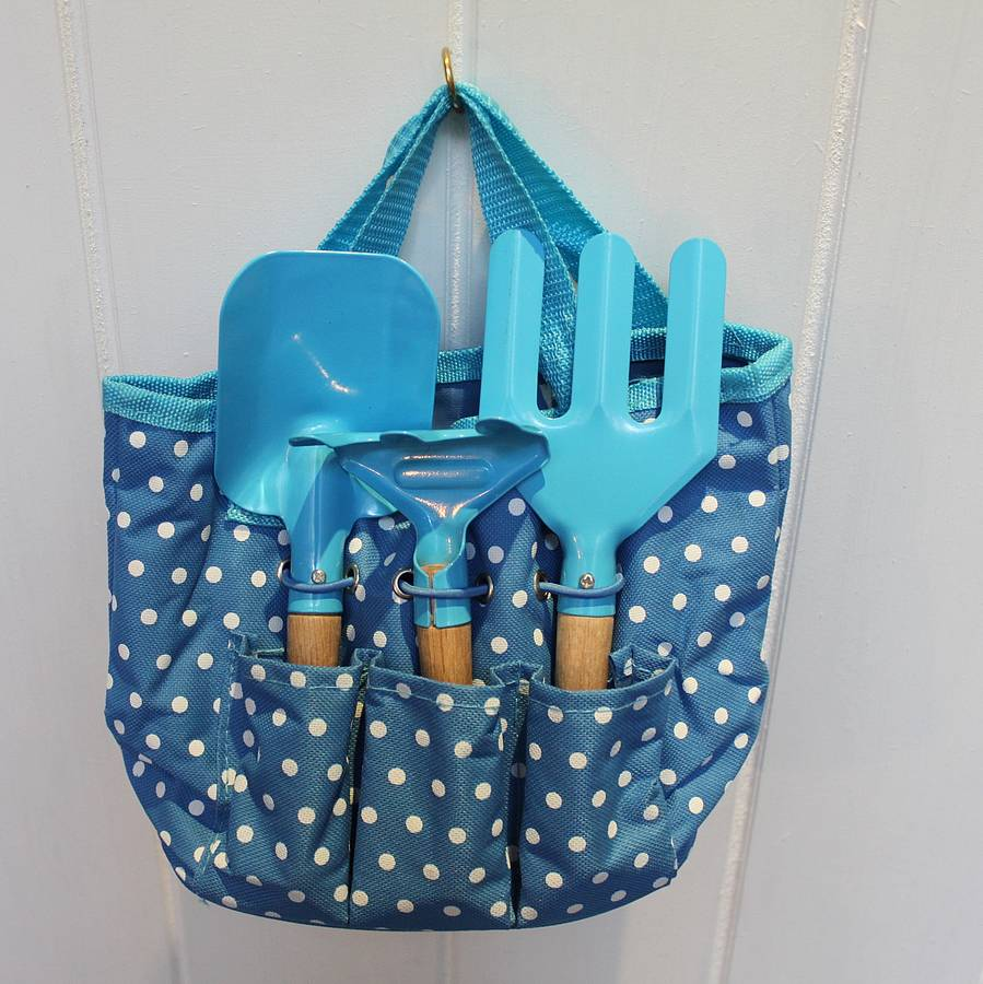 Children 39 s blue gardening kit by posh totty designs for Gardening kit for toddlers