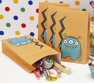 Monster Kids Birthday Party Bags