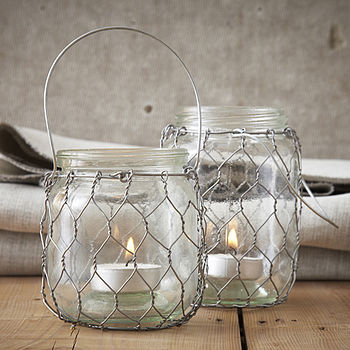 Chicken Wire Tea Light Holder
