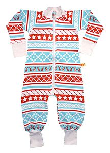 Bamboo Nordic Pattern Romper Suit - babygrows