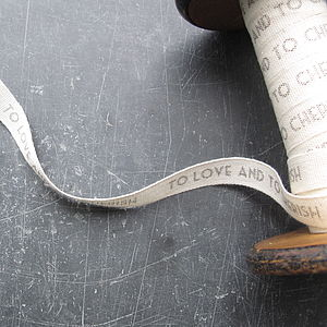 Personalised Cotton Ribbon - ribbon & wrap