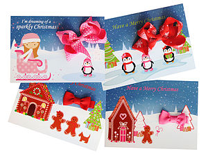 Stocking Filler Christmas Card And Hair Bow