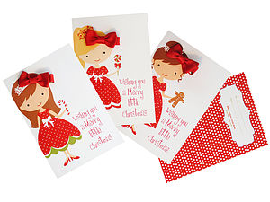 Princess Christmas Card And Bow Stocking Filler