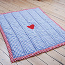 Thumb personalised childrens quilt