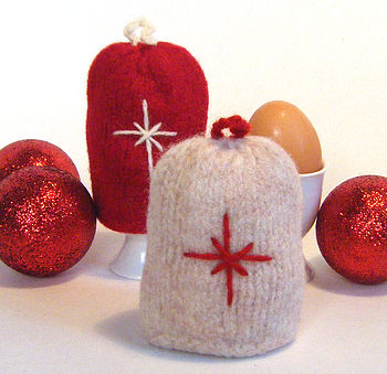 Christmas Knitted Egg Cosy