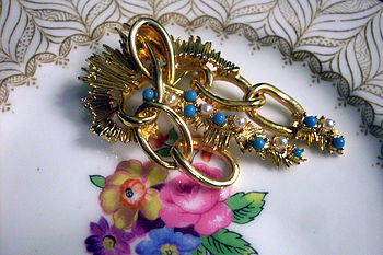 Vintage 1960s Brooch By Exquisit
