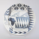 African Patch Dinner Plate