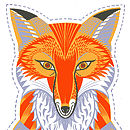 Felix The Fox Tea Towel Or Cut And Sew Kit