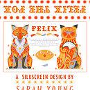 Felix The Fox Tea Towel Or Cut And Sew Kit