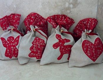Christmas Fabric Gift Bag